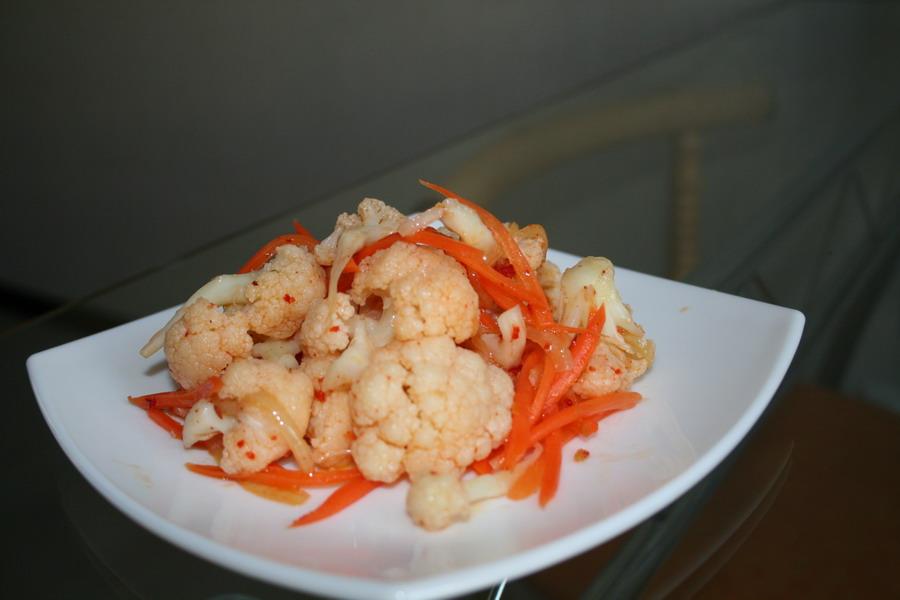 рецепт салата из цветной капусты по-корейски на зиму